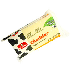 Organic Medium Cheddar Cheese- Code#: DA3206