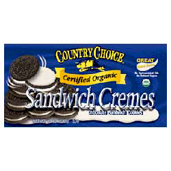Organic Chocolate Sandwich Crème Cookie- Code#: DE141