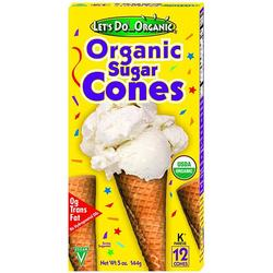Organic Lets Do Organic Sugar Cones- Code#: SN3054